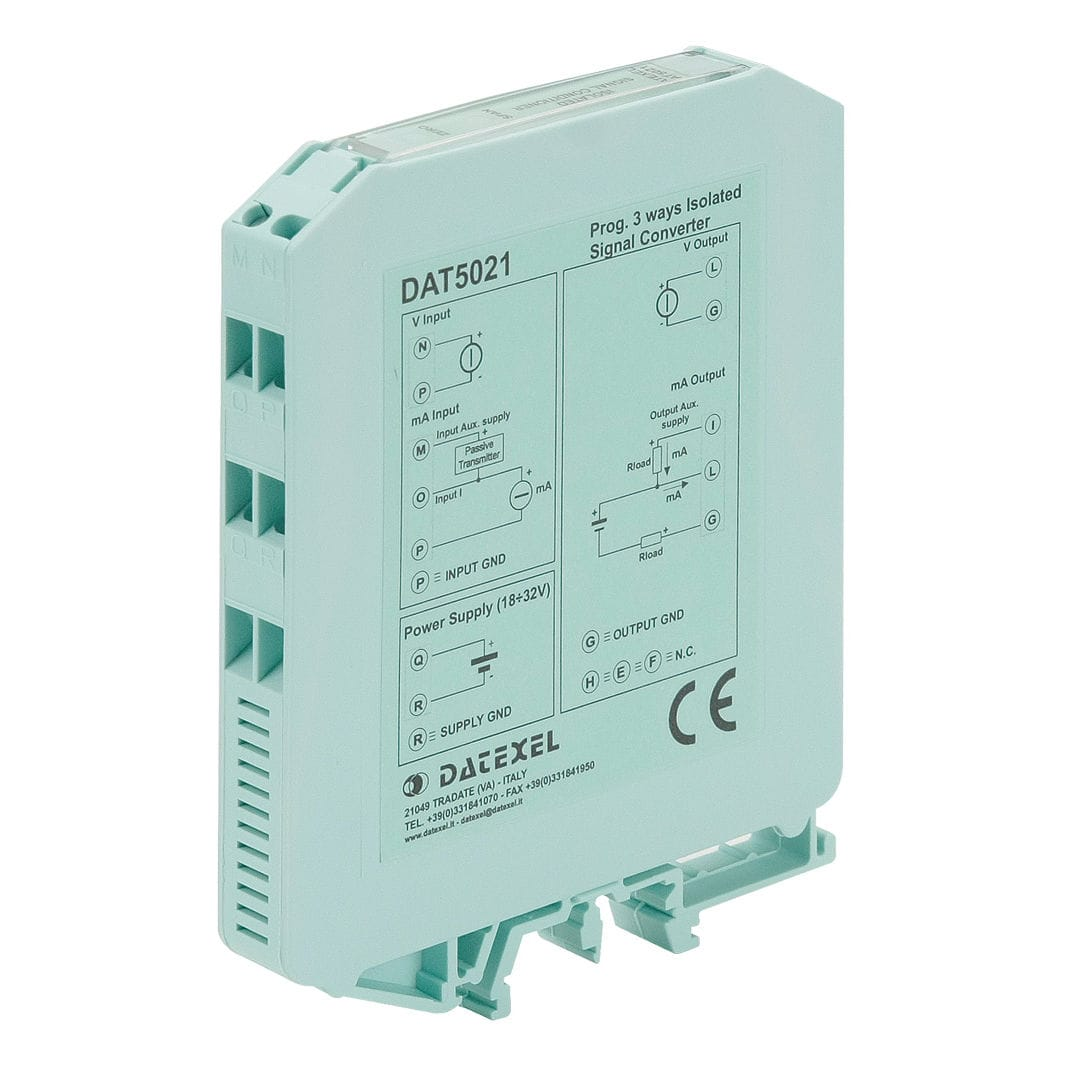 Voltage Current Converter 1 Analog Input Output Din To Rail Dat5021