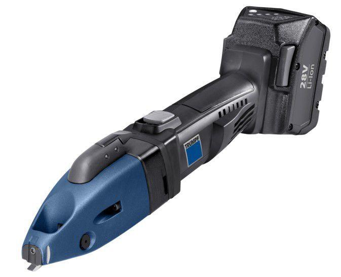 electric shear for sheet metal strap handheld trutool c 250 trumpf