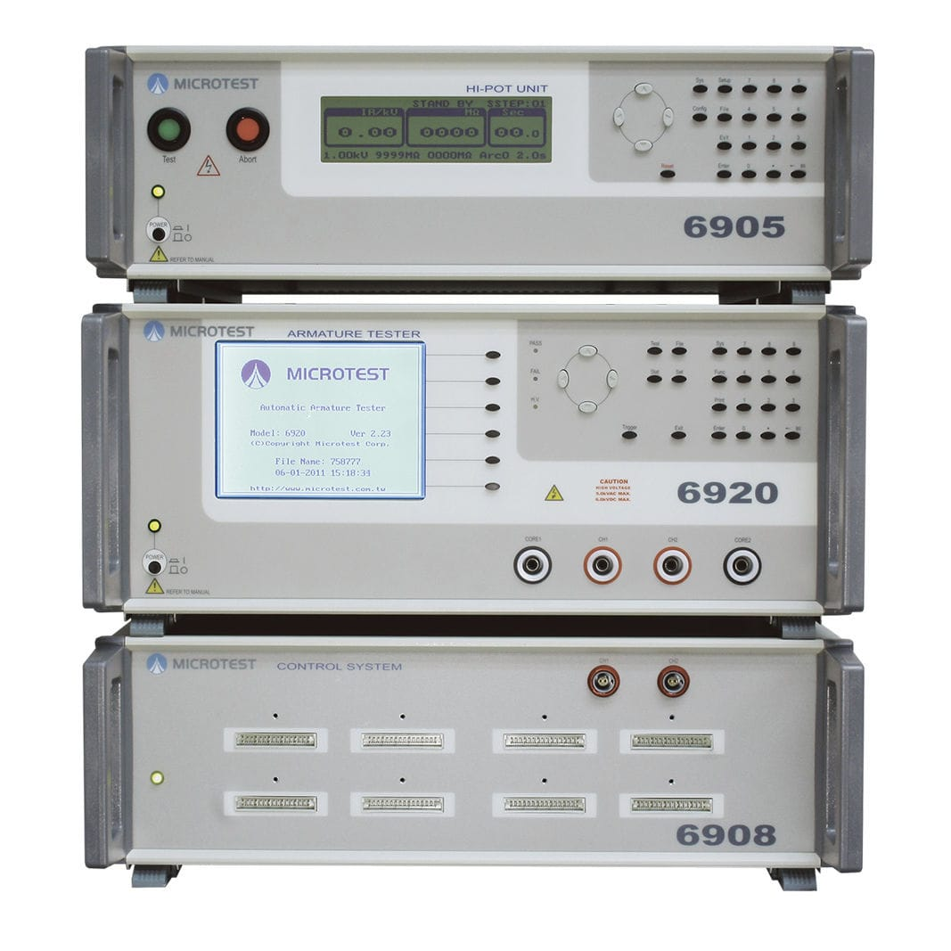 Rotor Tester Resistance Hipot Short Circuit Current 6920 Electronics