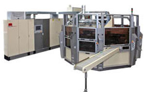 Automatic screen printing machine / servo-driven / eight-color / for