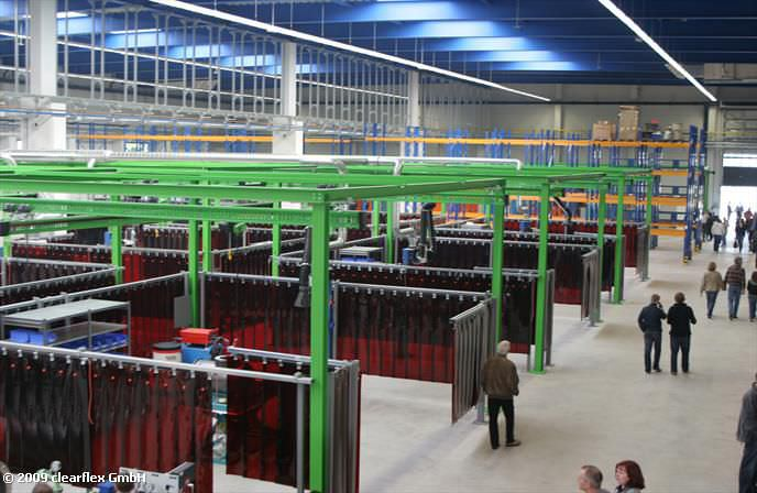 Curtains Ideas clear welding curtains : Welding curtain - clear-flex Siegfried Bäder GmbH