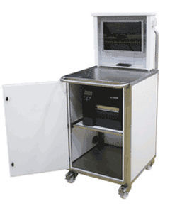 Mobile computer workstation / Ethernet / stainless steel / for the ...