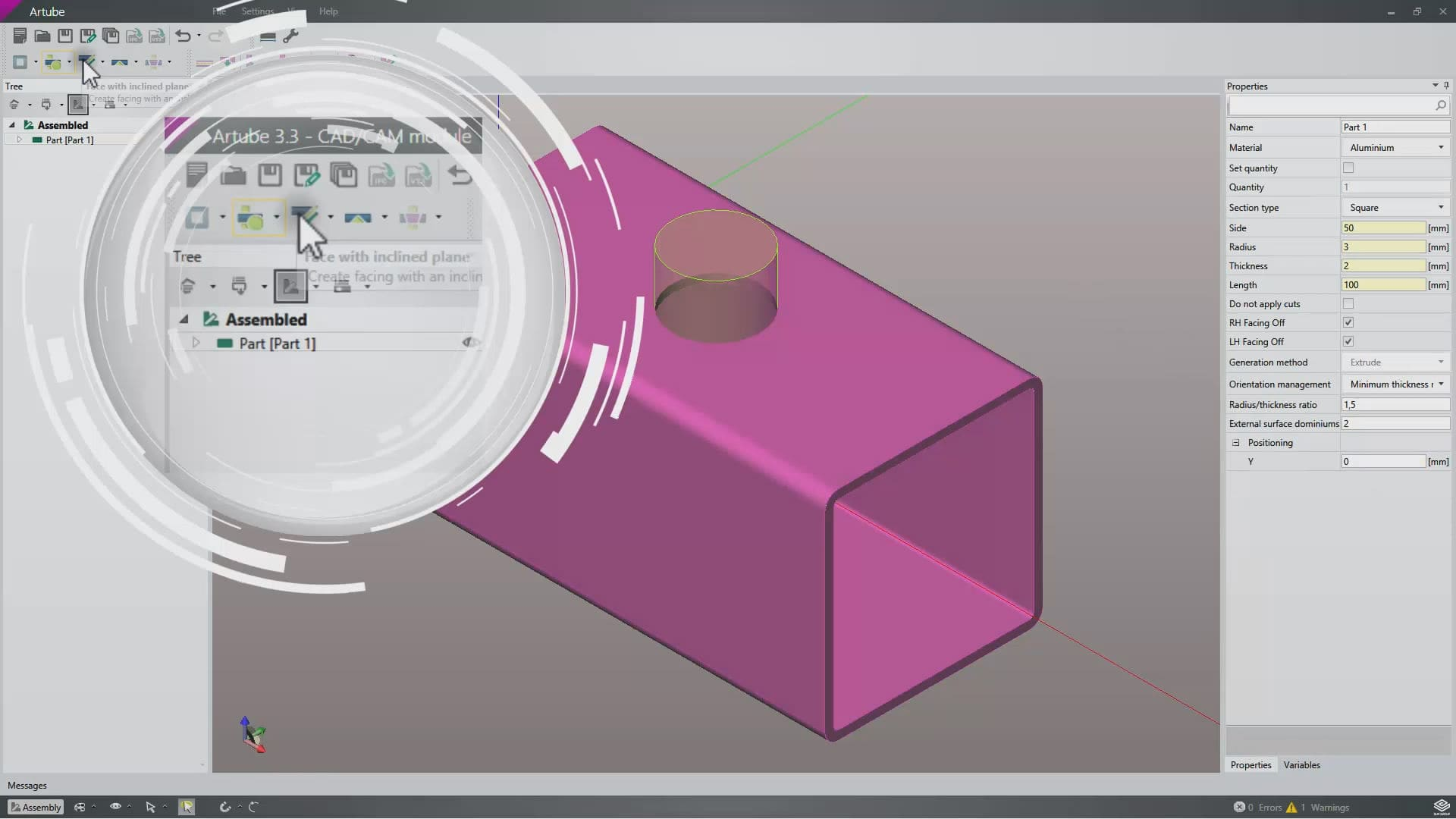 Cad Cam Software For Tube Cutting Machines 3d Artube Blm Group Diagram