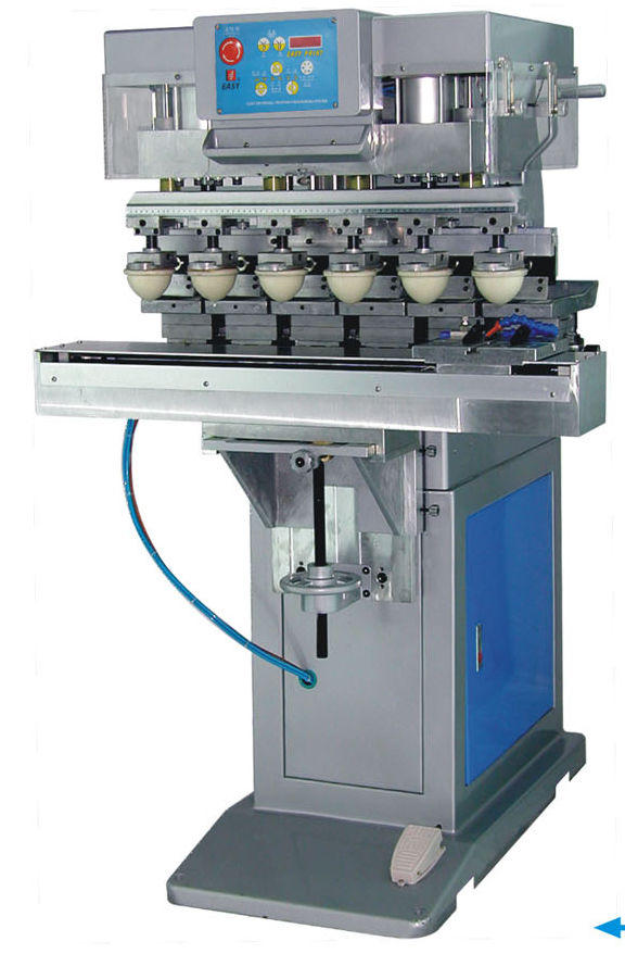 Pad printing machine with open ink cup / five-color S6/S LC Printing  Machine Factory Limited