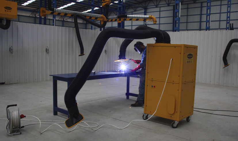 mobile fume extractor welding with self cleaning filter 1 200 3 000 mh - Welding Fume Extractor