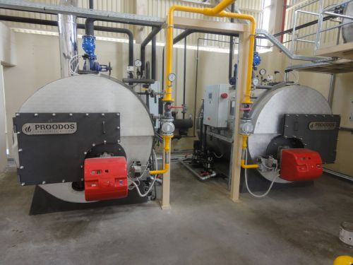 Superheated steam steam generator / natural gas / fuel oil / three ...