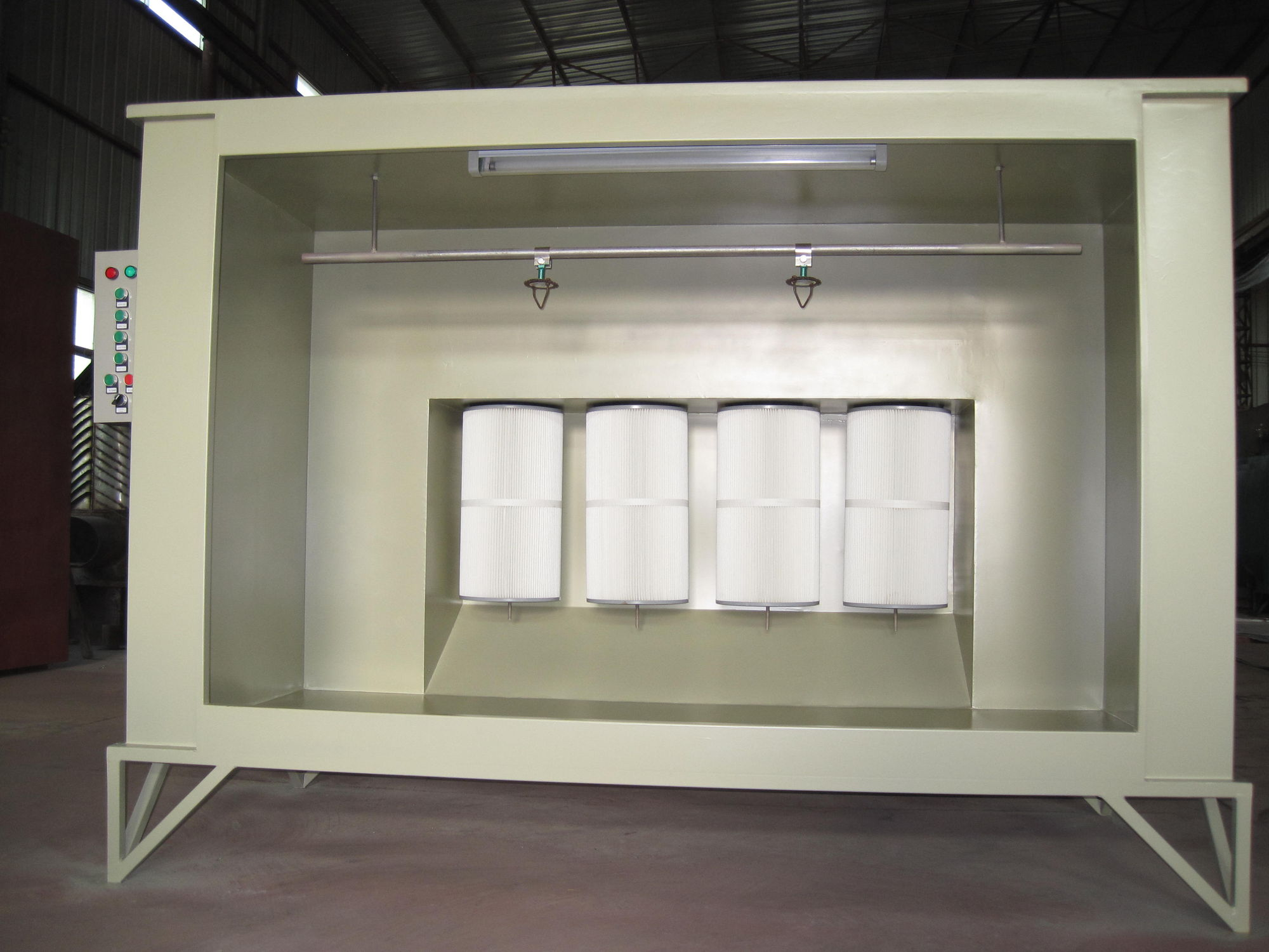 Manual powder coating booth electron videos.