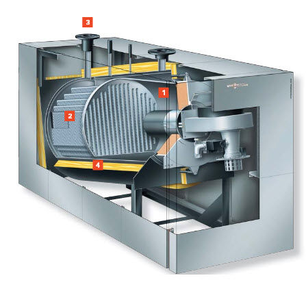Hot water boiler / gas / condensing - Vitocrossal 200 CM2 ...