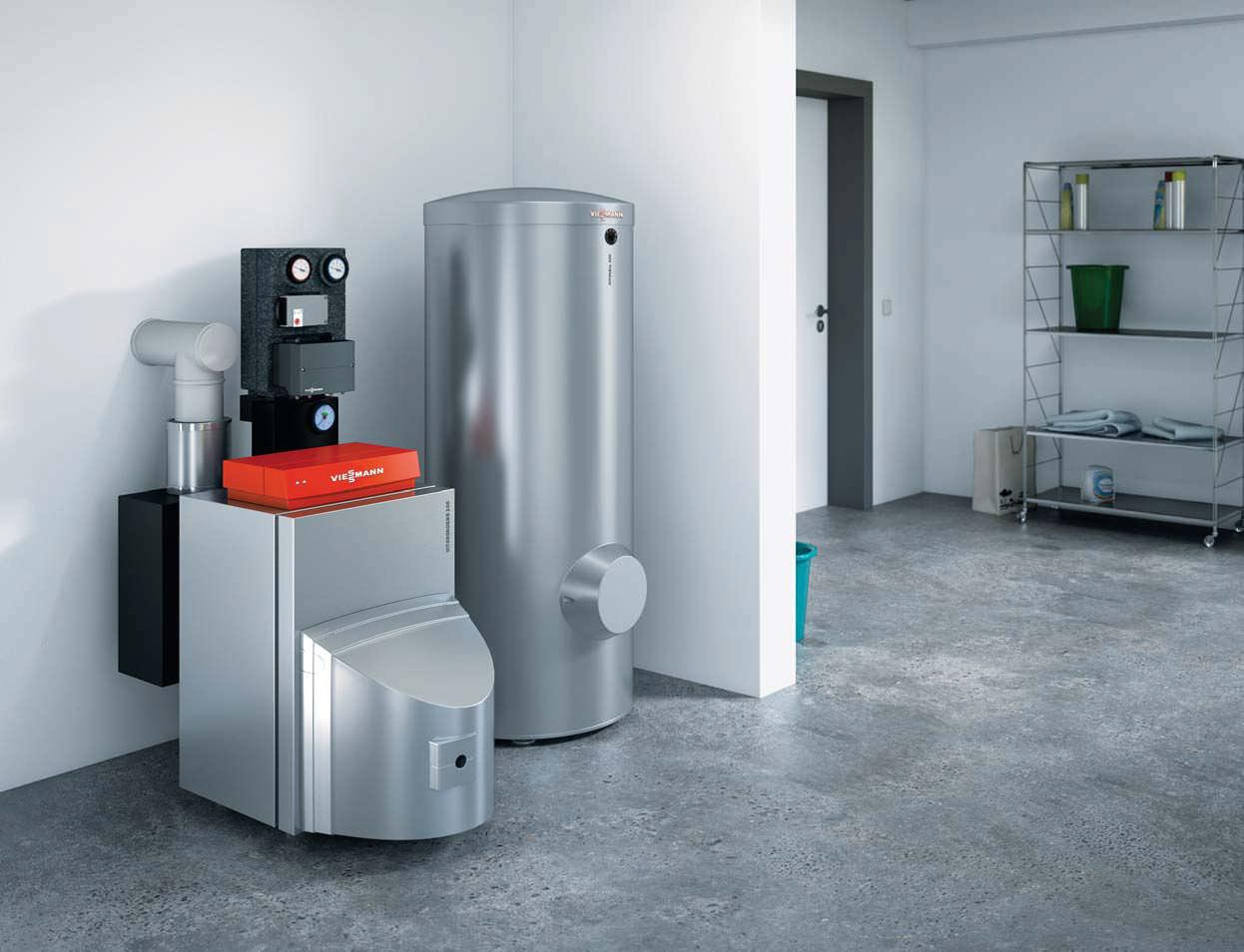 Hot water boiler / fuel oil / condensing - VITORONDENS 200-T ...