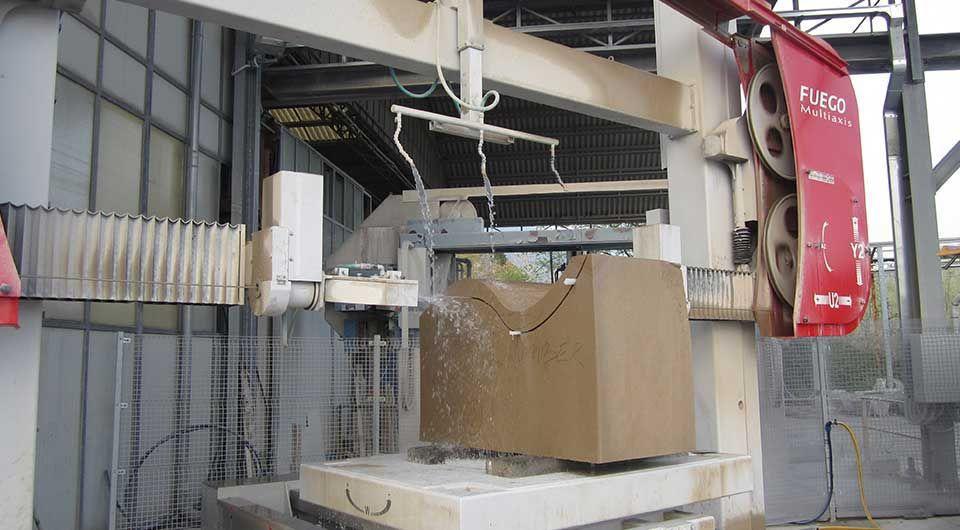 Granite cutting machine / diamond wire / CNC - FUEGO Multiaxis ...