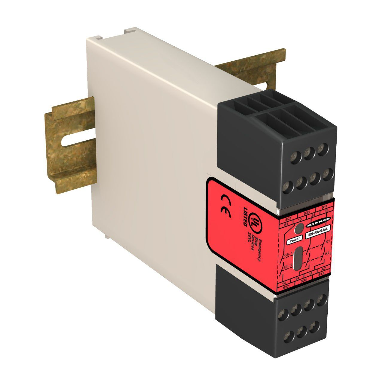 Safety Relay / For Light Curtain / DIN Rail   ES Series