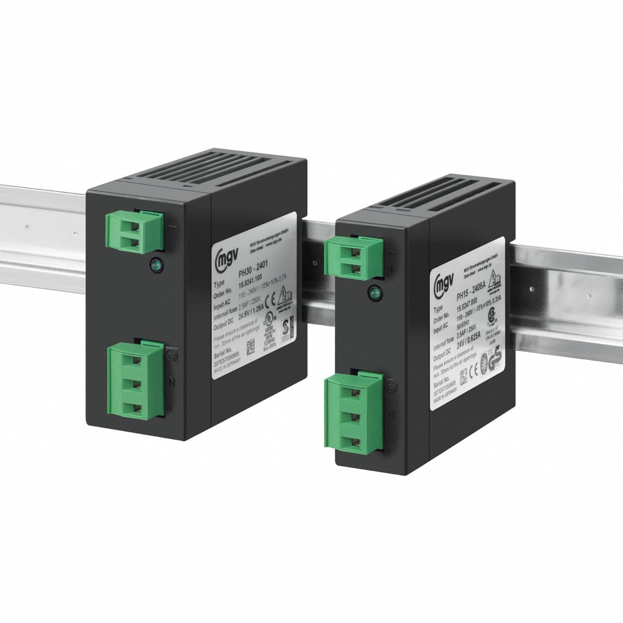 Ac Dc Power Supply Single Output Din Rail With Short Circuit Protection Ph15 Ph30 Series