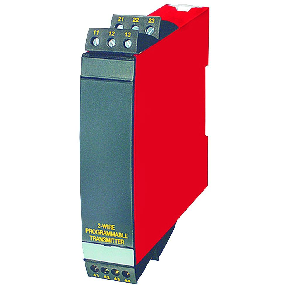 DIN rail mount temperature transmitter / thermocouple / 2-channel