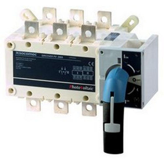 Manual changeover switch / din rail / general purpose / 3-pole.