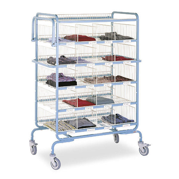 folding cart with shelves 2