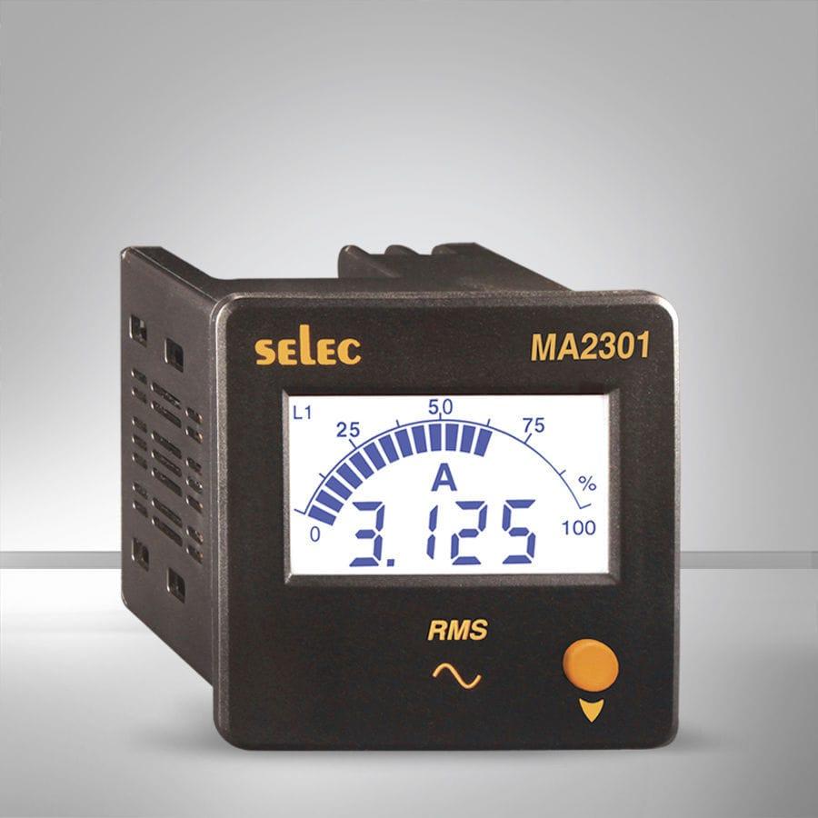 Digital Ammeter Ac Single Phase Ma2301 Selec Controls Pvt Ltd Wiring Diagram