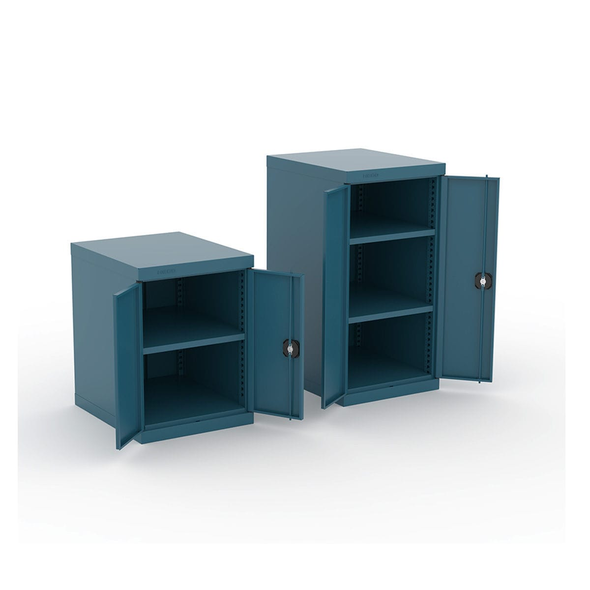 Storage Cabinet Floor Mounted Double Door Metal 125 Series
