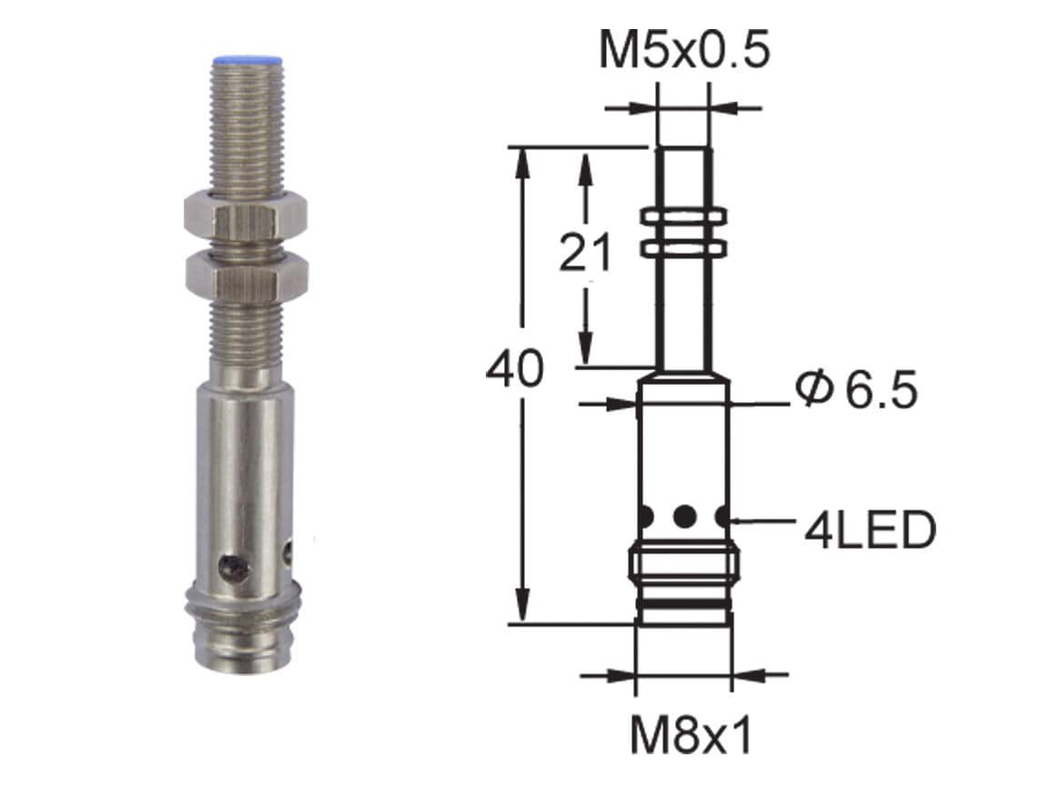 Inductive Proximity Sensor Miniature Cylindrical M5 Iss Html On Circuit