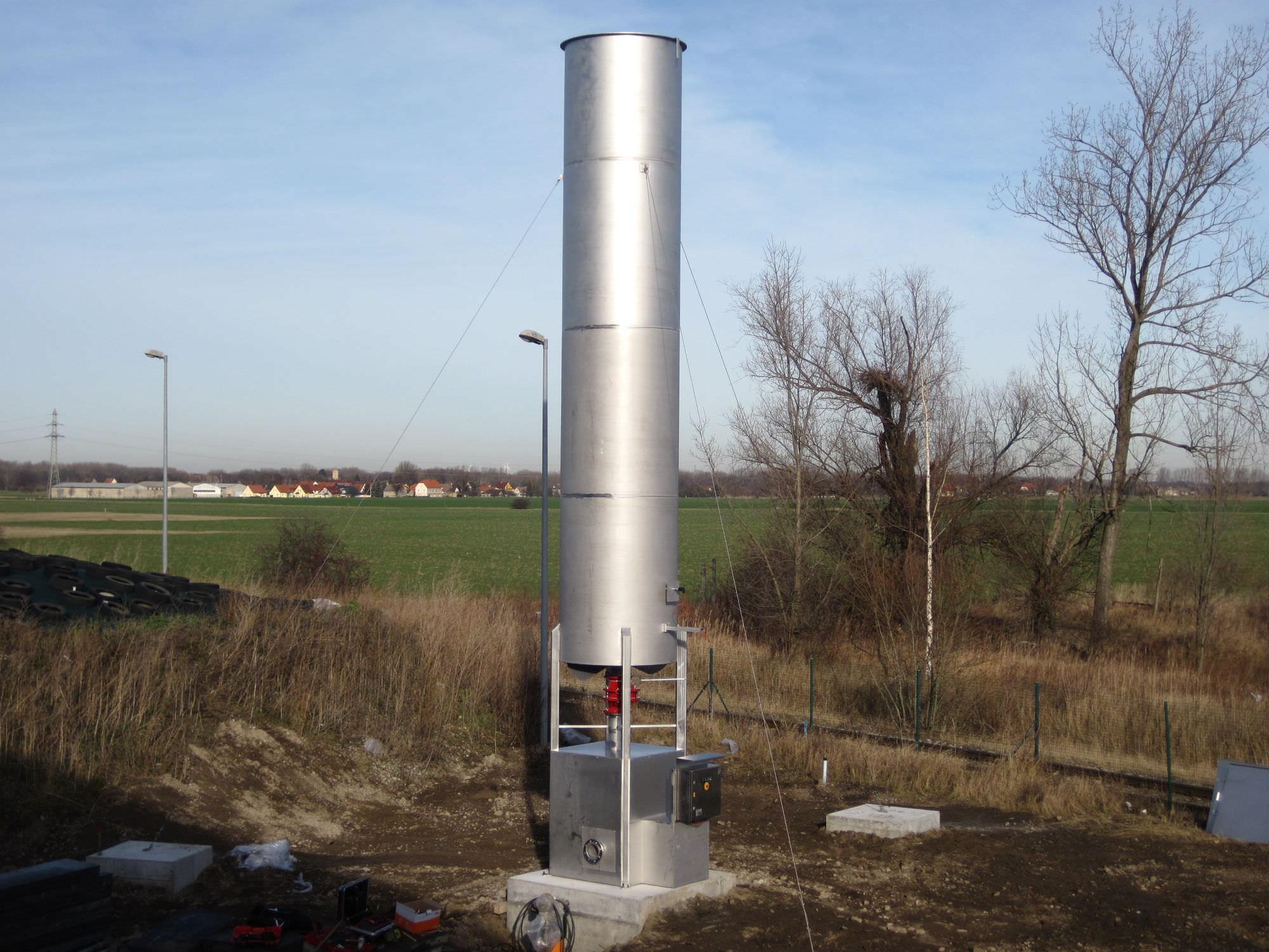 Flare stack - NOXmatic BM - ennox biogas technology GmbH
