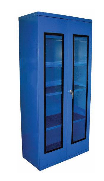 Storage Cabinet Free Standing Double Door Metal Equipto