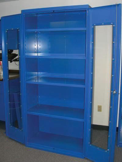 Storage cabinet / free-standing / double-door / metal - EQUIPTO