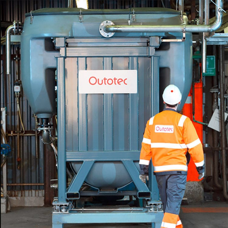 Electrolysis water purification unit - Outotec