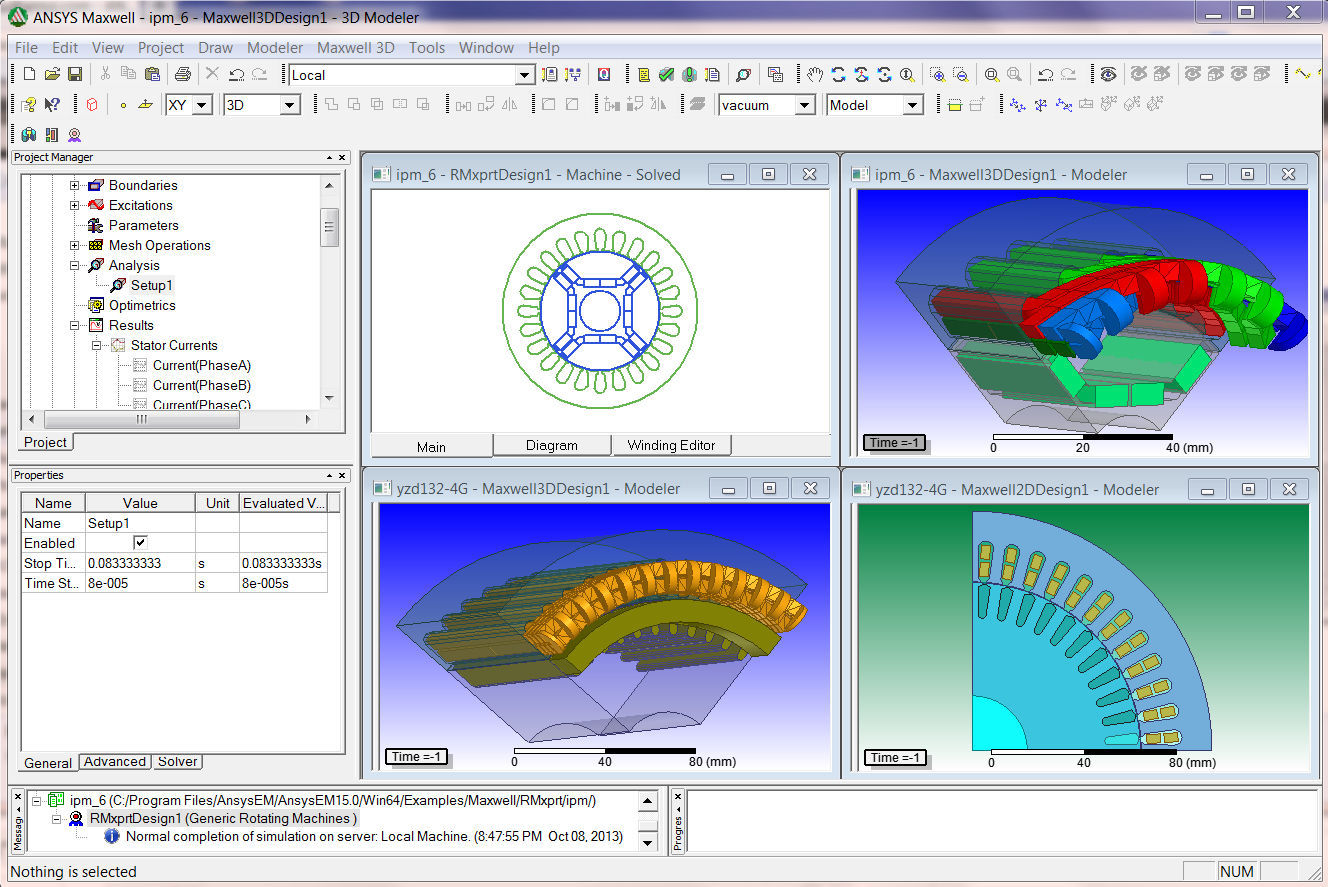 Electromagnetic Field Simulation 2d Ansys Maxwell