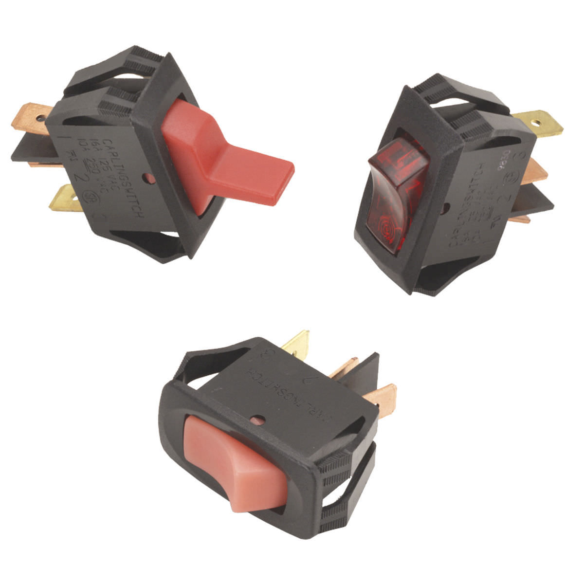 Rocker Switch Single Pole Illuminated Electromechanical Lr Carling Offon Switches Electrical Products Series