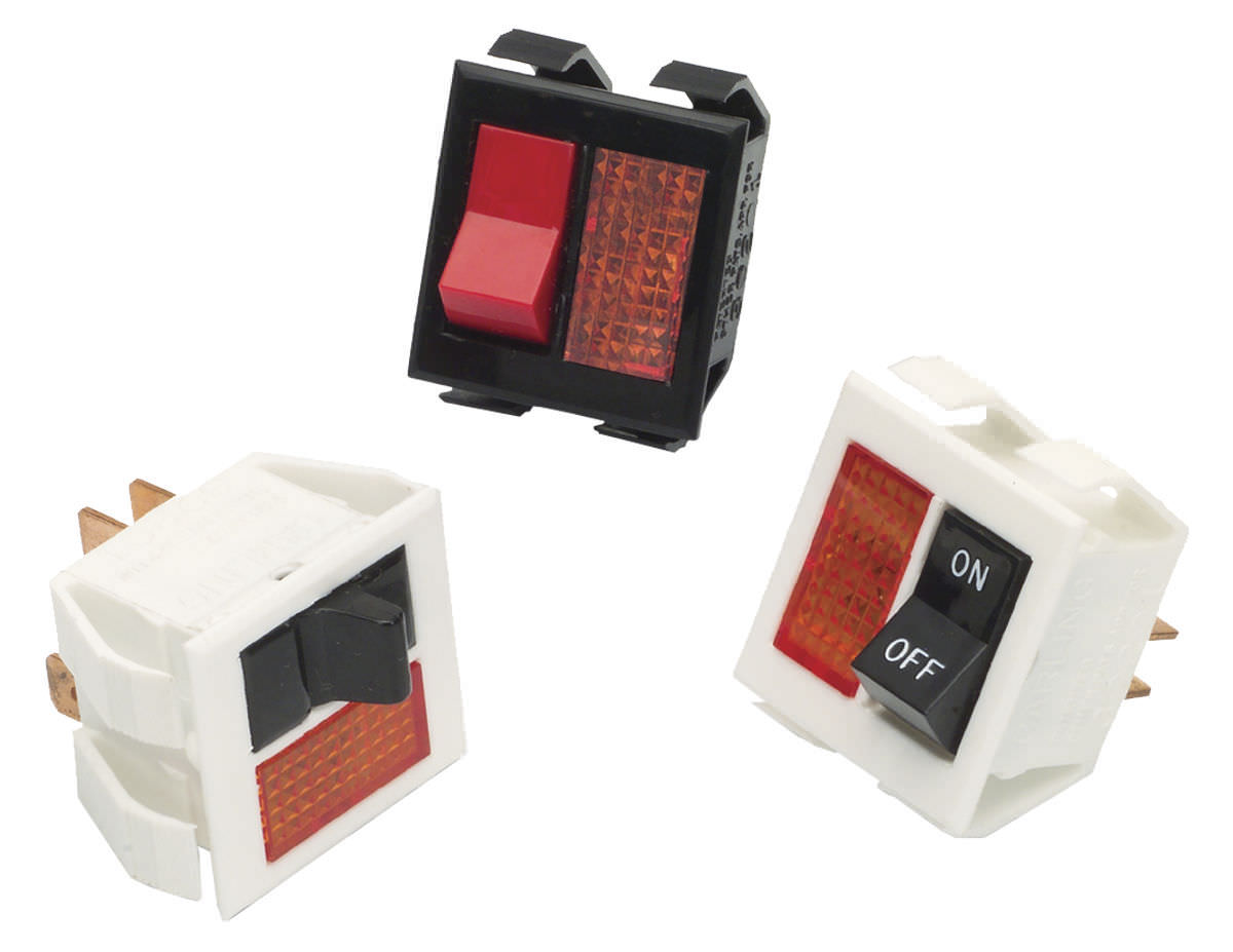 Rocker Switch Single Pole Nylon Electromechanical Tlg Series Carling Offon Switches Electrical Products