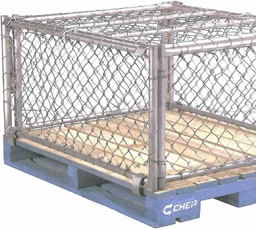 Metal pallet box / wire mesh / storage - CHEP