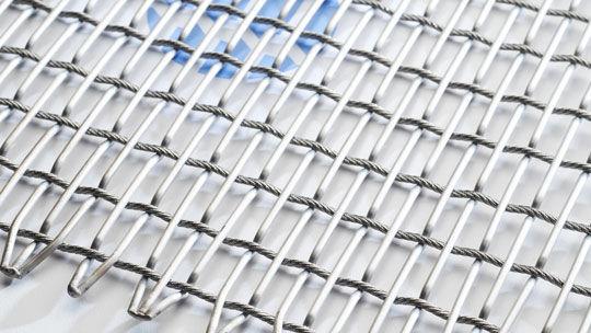 Wire mesh conveyor belt / stainless steel / high-resistance - Self ...