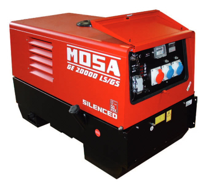 Air-cooled diesel generator set - 16 kVA | GE 20000 LS/GS EAS - MOSA