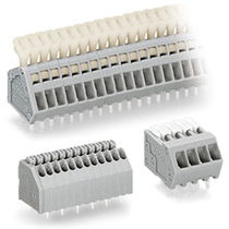 Screwless terminal block / spring cage connection / push-in / for printed circuit boards