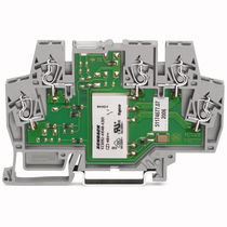 Spring terminal block / DIN rail-mounted / relay / with LED