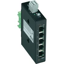 Unmanaged network switch / 5 ports / DIN rail
