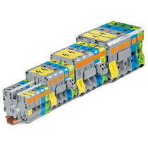 Screwless terminal block / DIN rail-mounted / three-phase / high-current