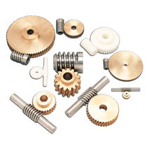 Worm gear / straight-toothed / plastic / steel