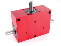 Right-angle gear reducer / dual-shaft / transmission