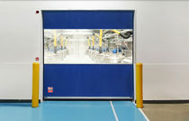 Roll-up door / fabric / PVC / indoor