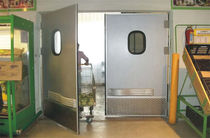 Swing doors / stainless steel / indoor / industrial
