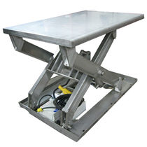 Scissor lift table / electric / stationary