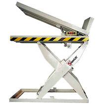 Scissor lift table / hydraulic / stationary / tilting