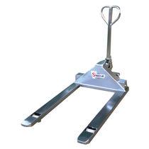 Hand pallet truck / walk-behind / stainless steel / long-fork