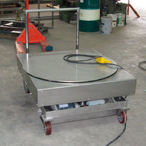 Scissor lift table / electric / mobile / rotating