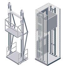 Platform lift / hydraulic / for bulk materials / vertical