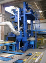 Roller shot blasting machine / sheet metal / continuous