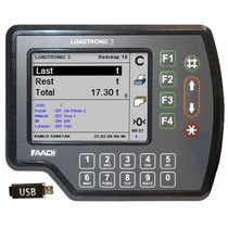 Onboard weighing system for loader