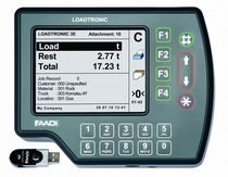 Onboard weighing system for excavators