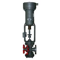 Diaphragm valve / pressure-reducing / for gas / flange