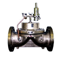Diaphragm valve / hydraulically-operated / flow control / level control